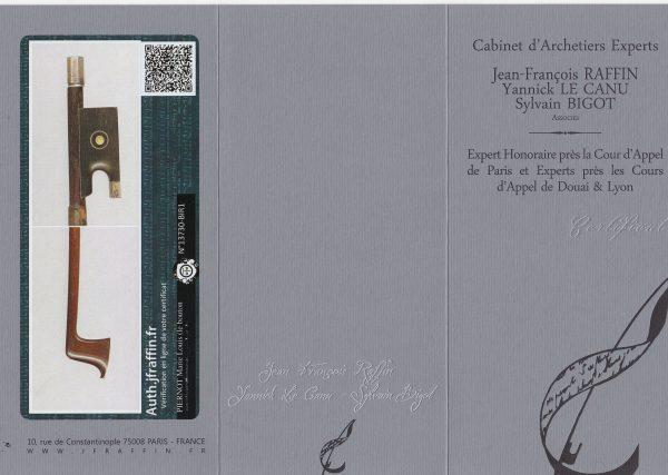 Violinbogen Piernot Zertifikat Bild