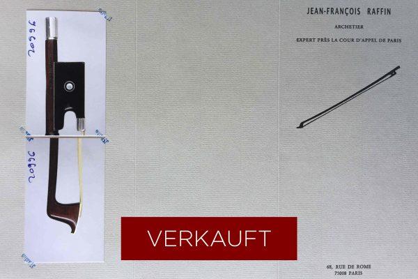 Violinbogen Zertifikat Fétiques VERKAUFT