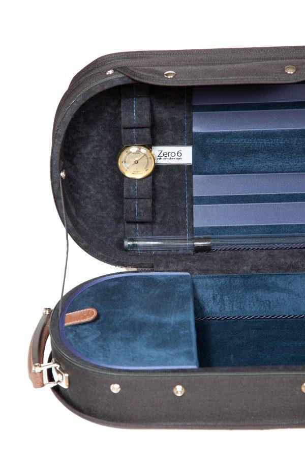Maurizio Riboni Zero 6 Violinkoffer Blau unifarben innen