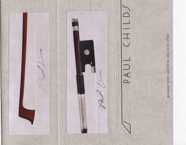 Zertifikat Paul Childs Violinbogen Pajeot